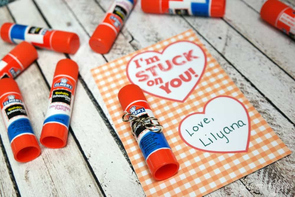 Glue Stick Valentine Cards