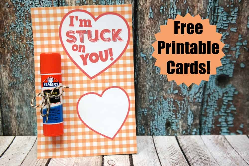 Glue Stick Valentine Free Printable