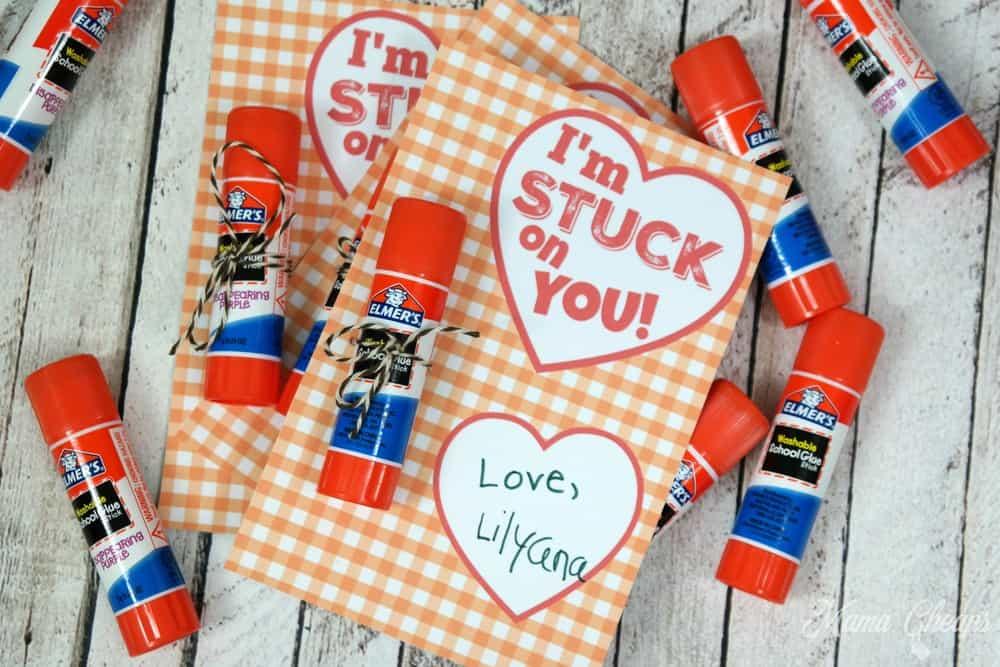 Glue Stick Valentine Idea
