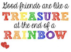 Good Friends Are Treasures Tag