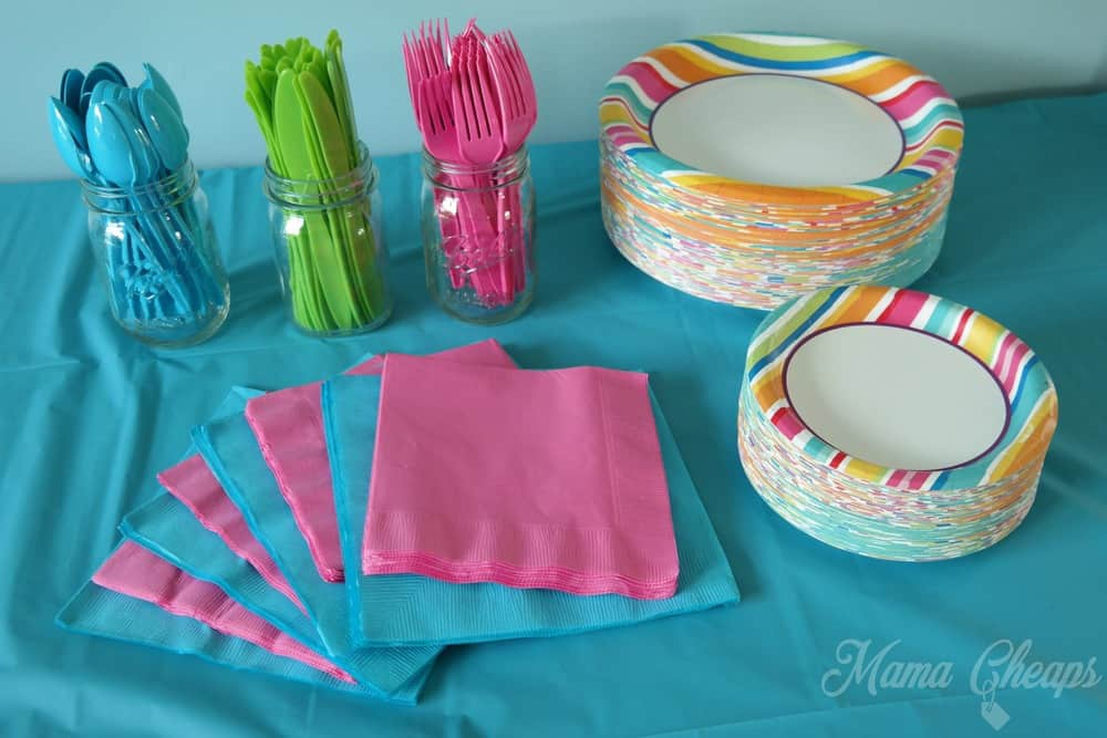Party City Plates and Cutlery