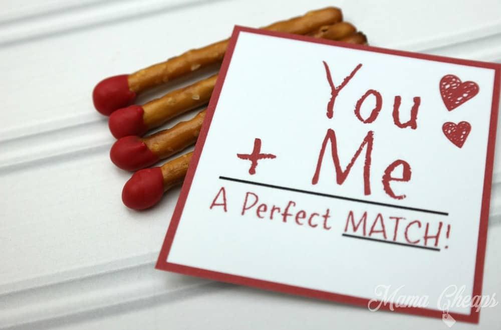 Pretzels Valentines Day Tag