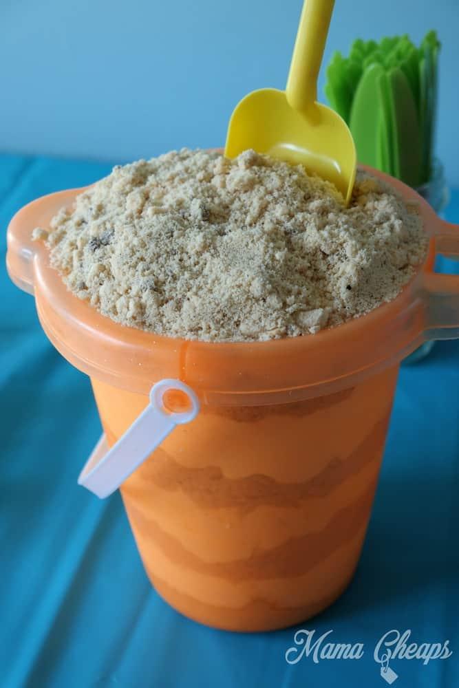 Sand Cake in Beach Bucket