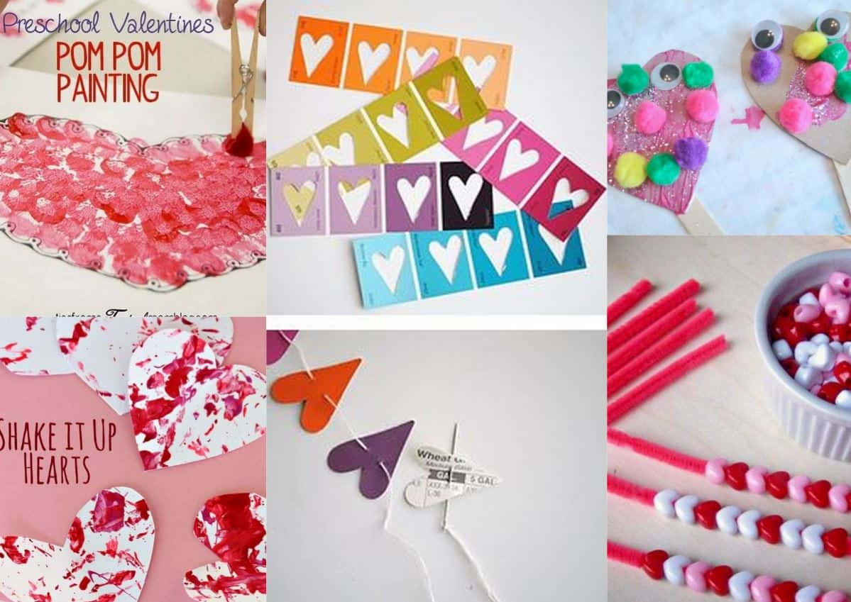Valentines Day Preschool Crafts Set C