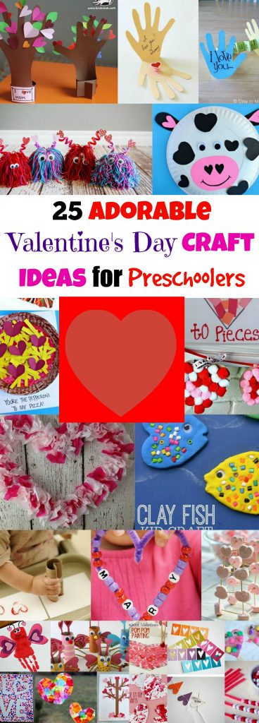 Valentines Preschool Craft Collection PIN