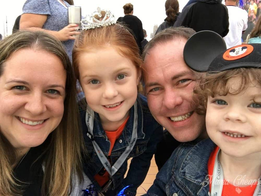 Weaver Family at Disney Cruise Sail Away Party