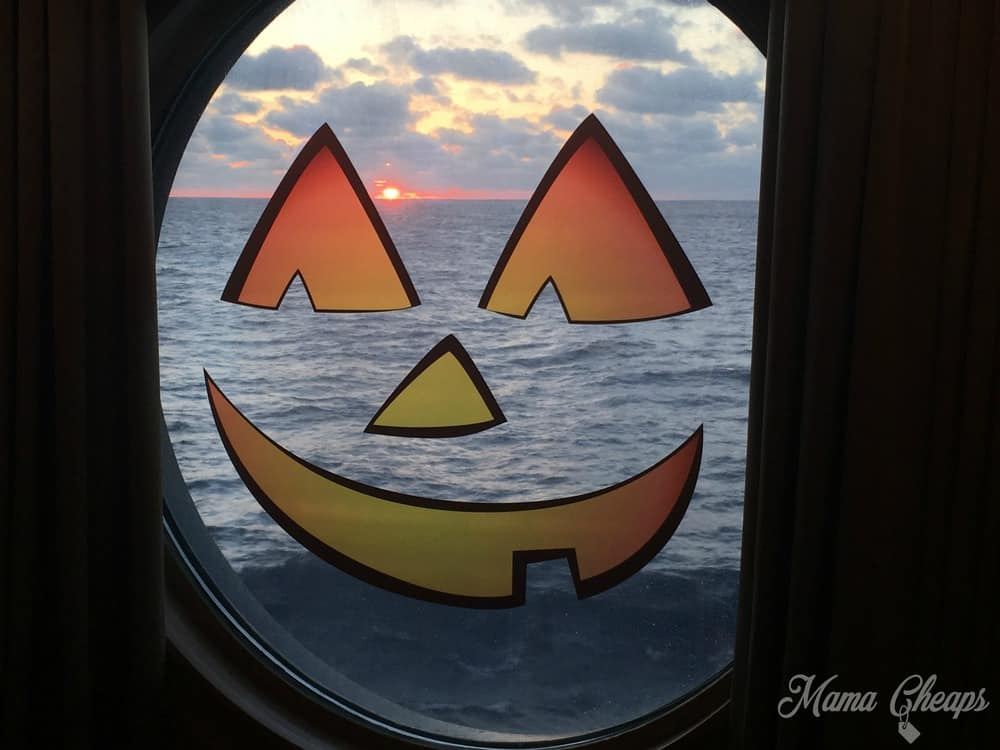 Disney Cruise Jack O Lantern Window