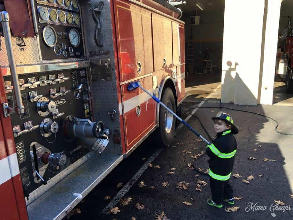 Landon at Fire Station