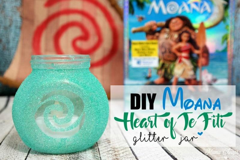 Moana Heart of Te Fiti Glitter Jar