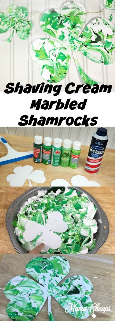 Shaving Cream Marbled Shamrocks