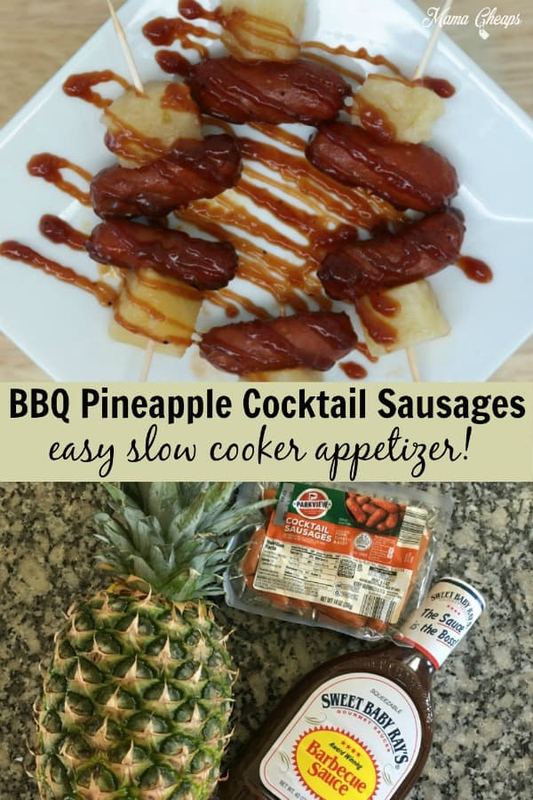 BBQ Pineapple Cocktail Sausages PIN