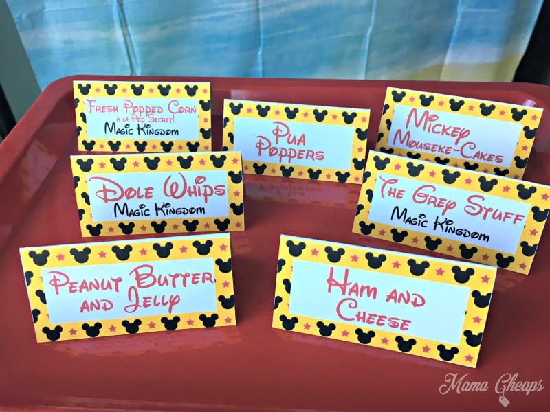 Disney Party Printable Cards