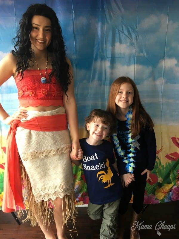 Kids with Moana