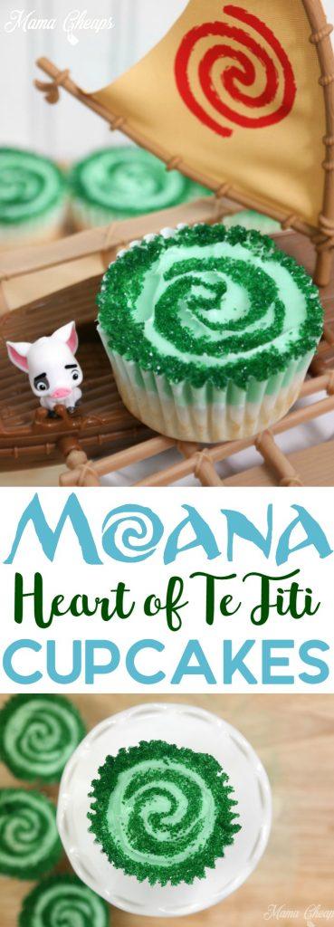 Moana Heart of Te Fiti Cupcakes