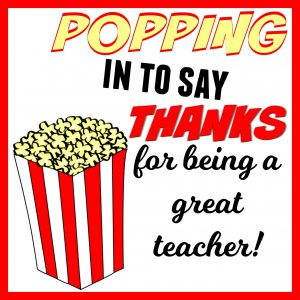 Popcorn Teacher Gift Tag
