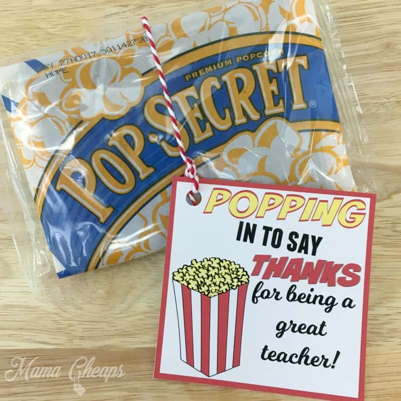 photo relating to Thanks for Popping by Free Printable named POPPING inside of toward Say Due Popcorn Themed Trainer Present +