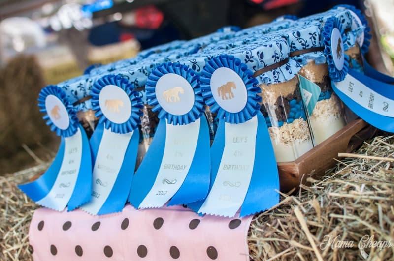 Blue Ribbons on Cookie Jars