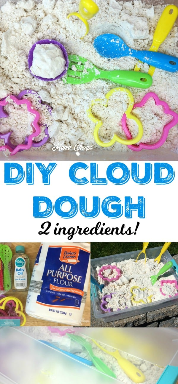 DIY Cloud Dough Flour Baby Oil
