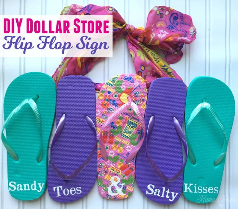 52382155057c81 DIY Dollar Store Flip Flop Sign for Summer
