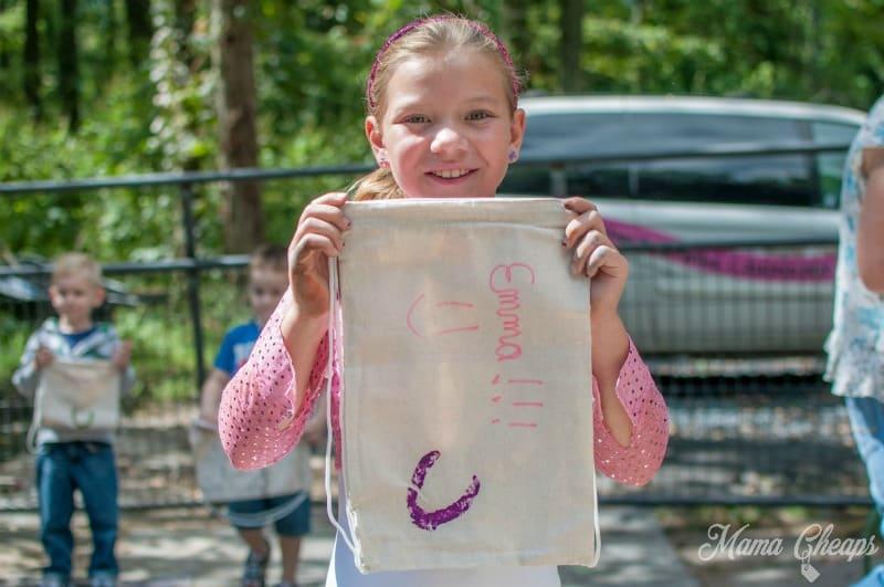 Emma with Hoofprint Bag