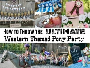 How to Throw a Western Themed Pony Party