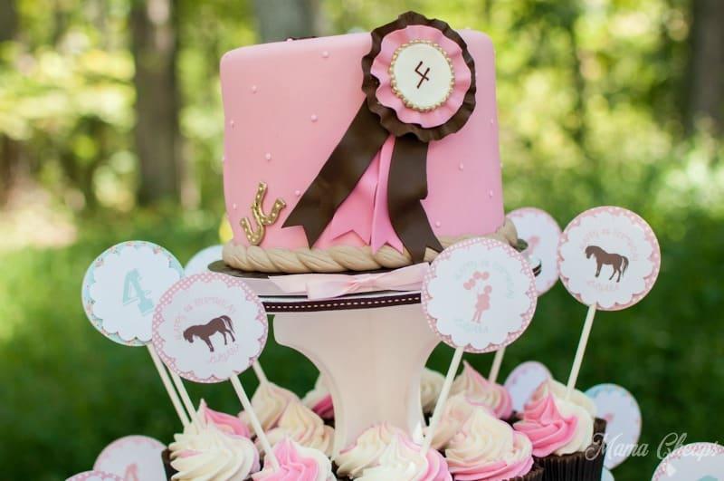 Pony Ribbon Cake