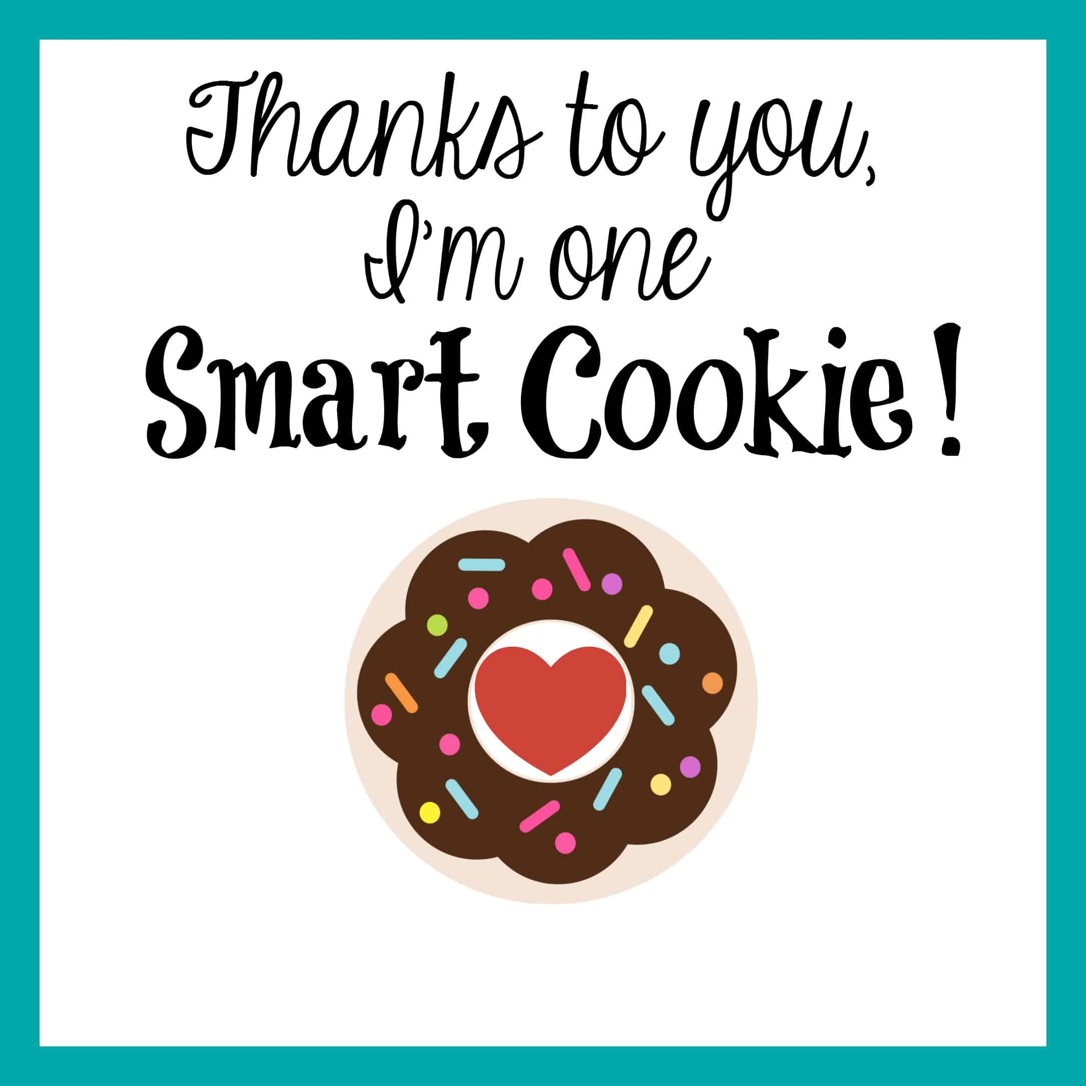 It is an image of Tactueux One Smart Cookie Printable