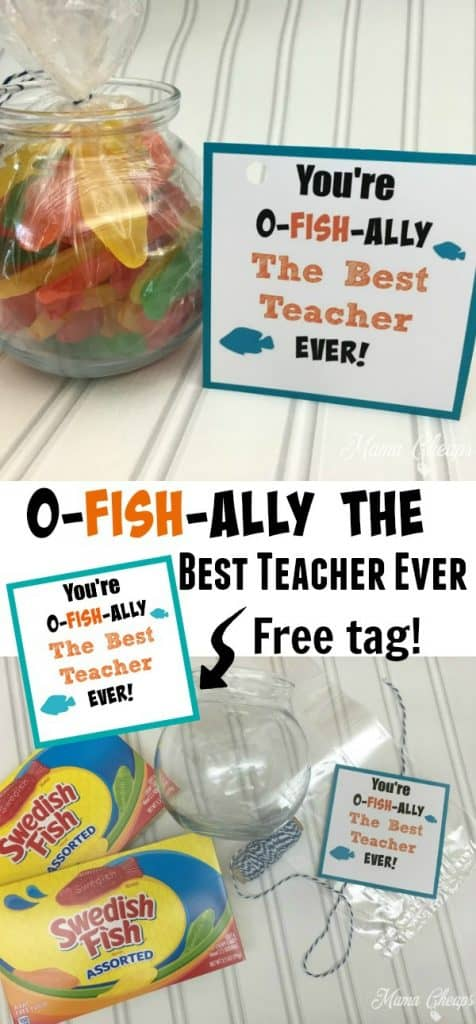Swedish Fish Themed Fishbowl Teacher Gift Idea