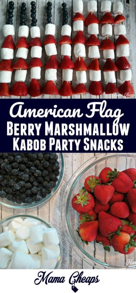 American Flag Berry Marshmallow Kabobs