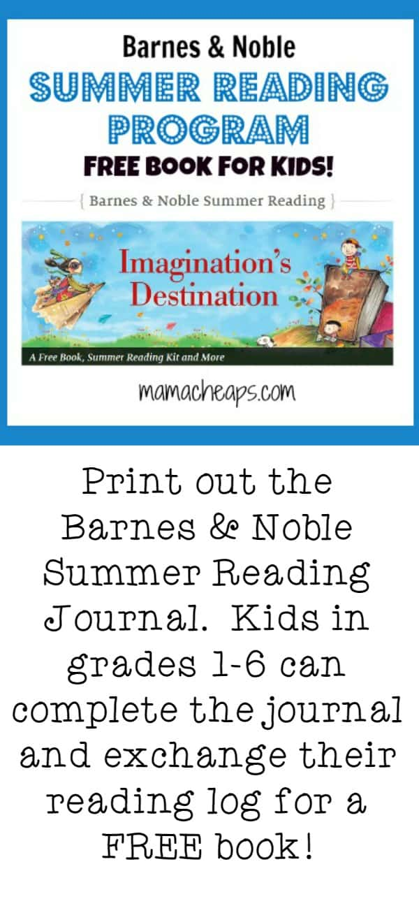 2018 Barnes and Noble Summer Reading Program - FREE Book for Kids