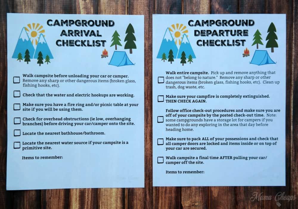 Camping Printables 3