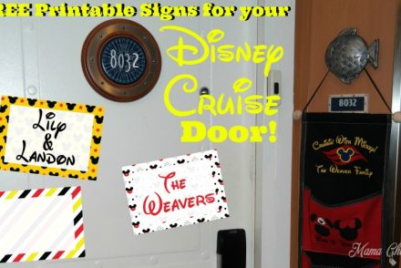 Disney Cruise Door Signs