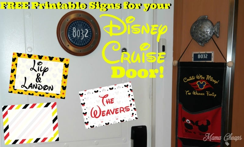 photo regarding Free Printable Door Signs named Free of charge Printable Disney Cruise Cabin Doorway Decorations Mama