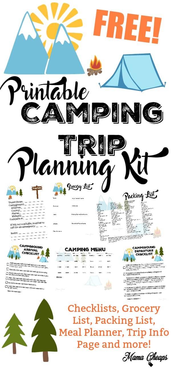 FREE Printable Camping Trip Planning Kit