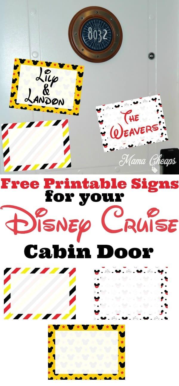 Free Disney Cruise Decorations