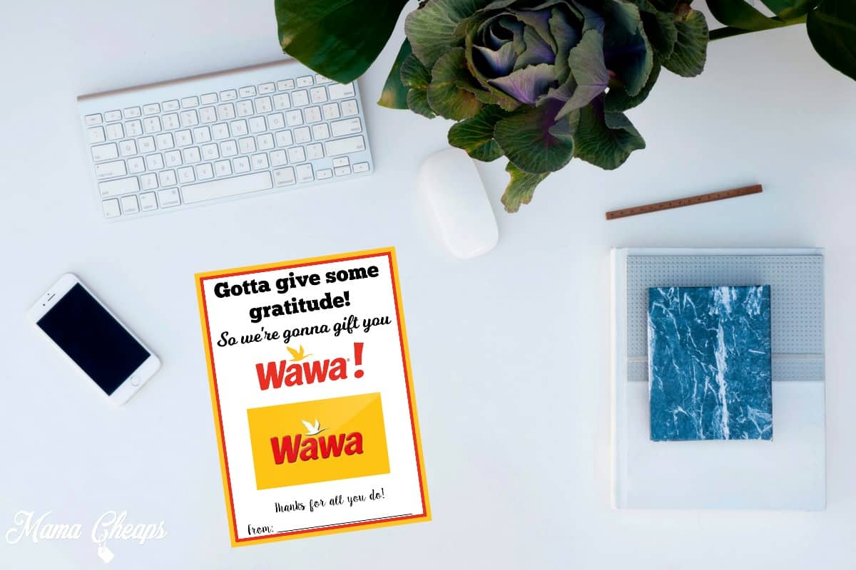 graphic relating to Wawa Coupons Printable named Wawa Free of charge Printable Present Card Holder Mama Cheaps
