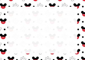 Mickey White Background Sign