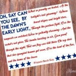 National Anthem Star Spangled Banner Print