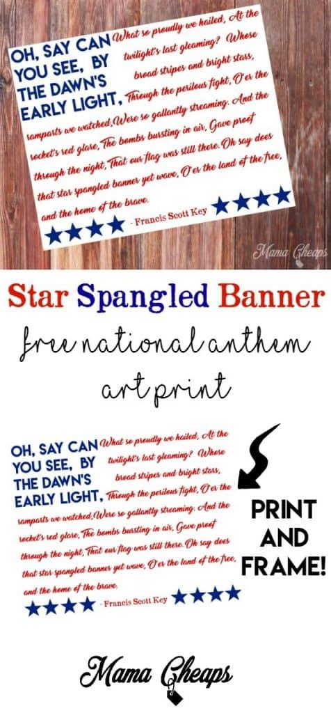 Star Spangled Banner USA National Anthem