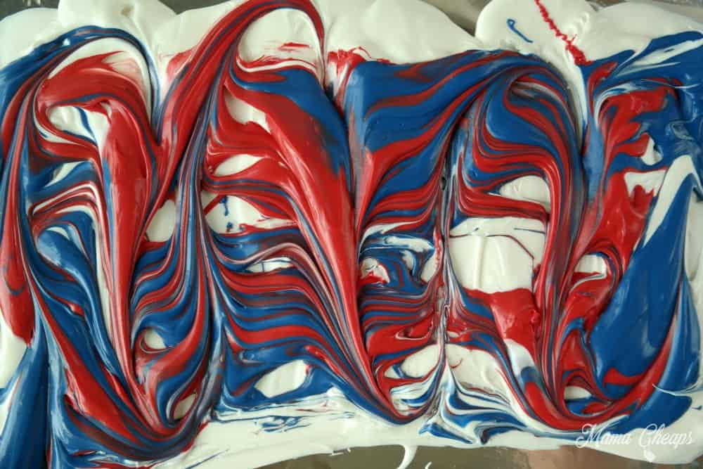 red white blue swirl
