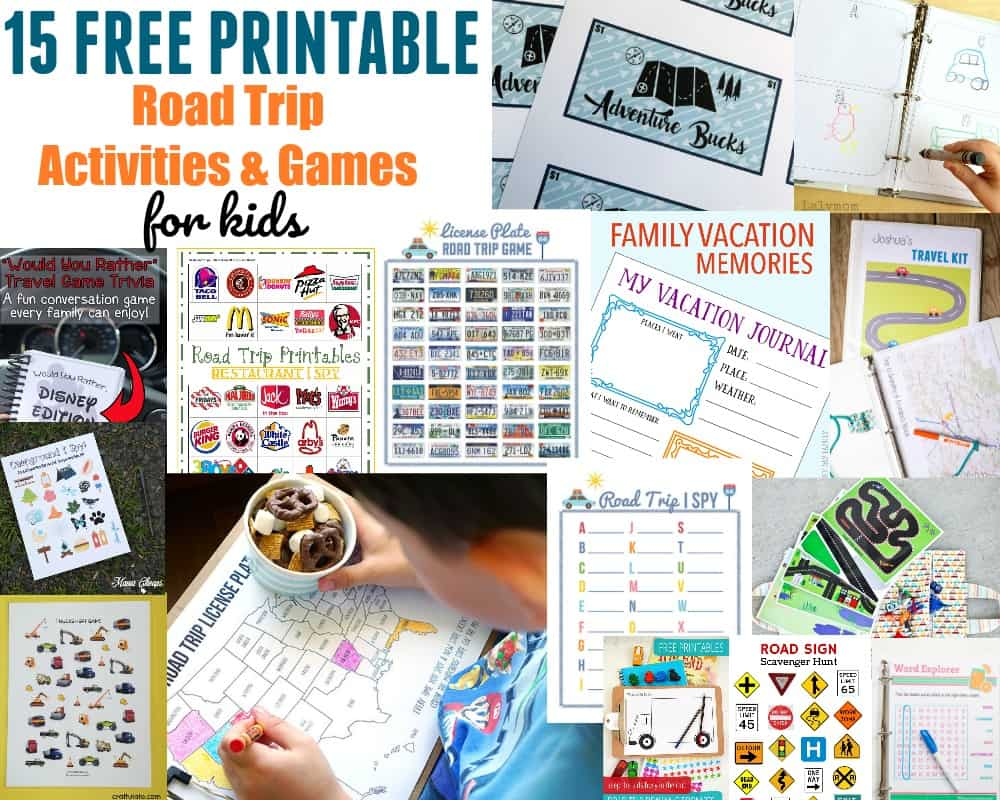 Free Printable Road Trip Activities and Games