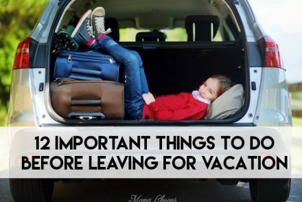Important Things to Do BEFORE Leaving for Vacation