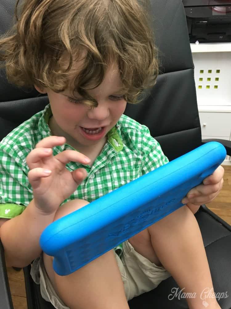 Landon on Tablet