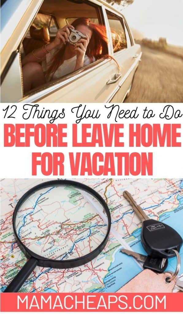 Leave Home for Vacation Prep PIN