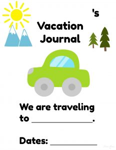 Vacation Journal Page 1