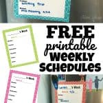 Free Printable Weekly Schedule Set