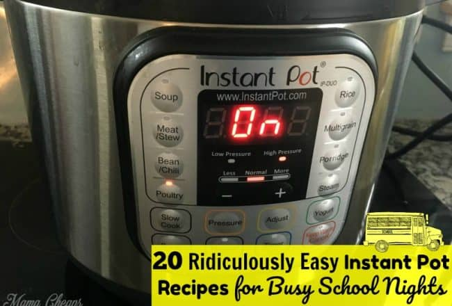 Instant Pot Recipes for School Nights