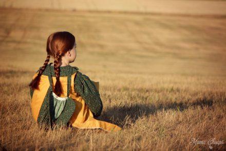 Pioneer Girl on Ingalls Homestead