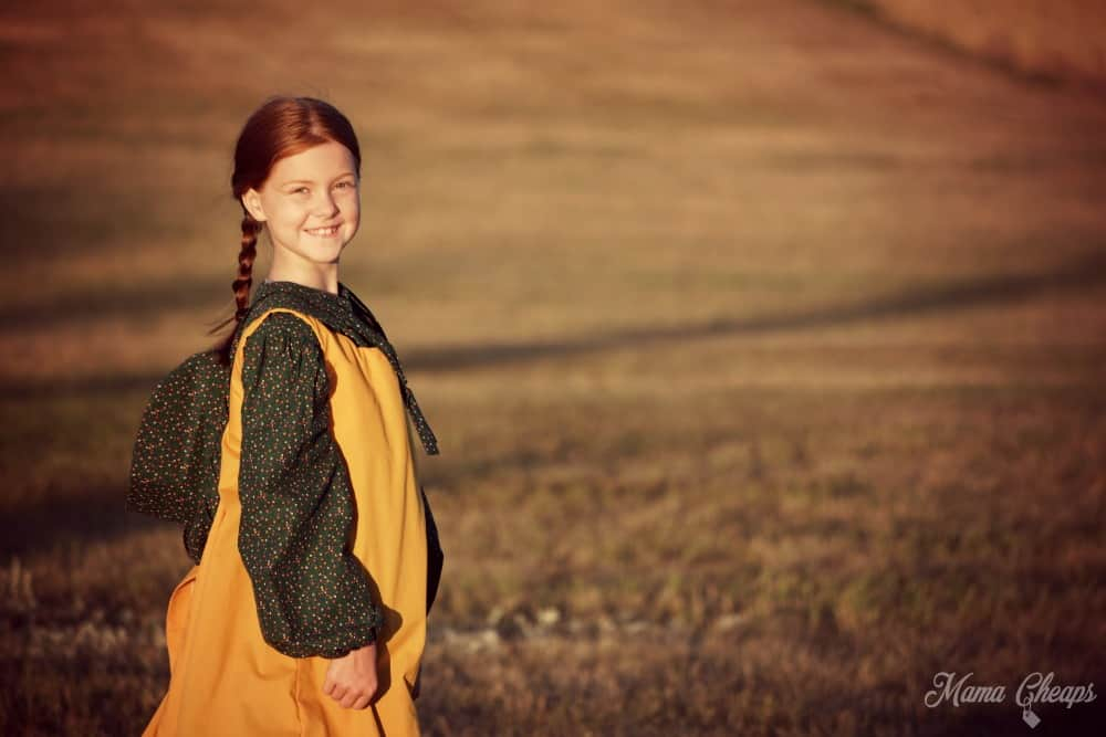 Pioneer Girl on Ingalls Homestead Sunset