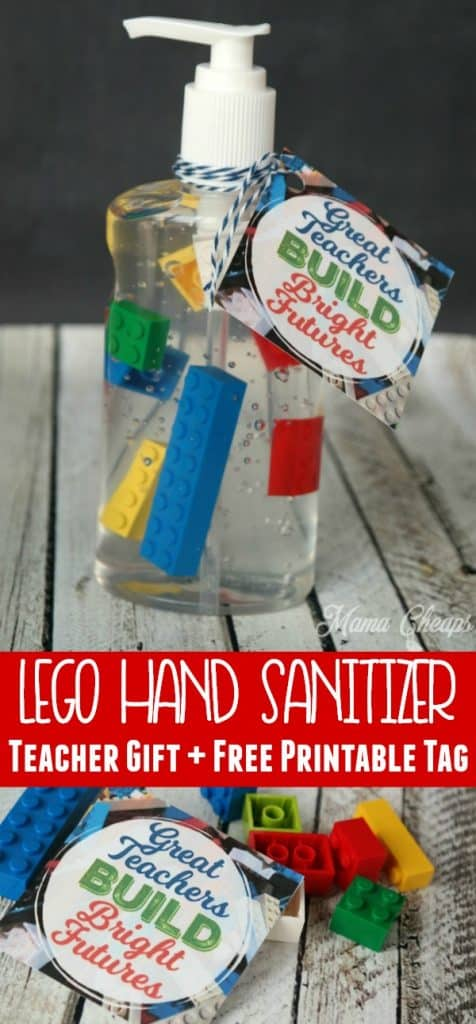 Lego Hand Sanitizer Teacher Gift Idea